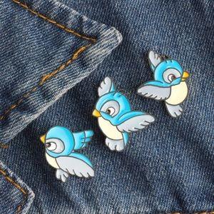 3 Birds Enamel Pin Set